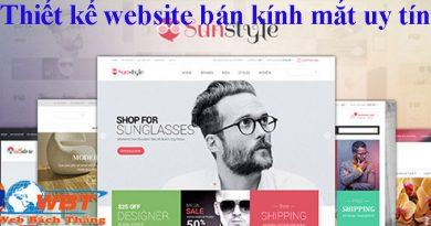 Thiết kế website bán kính mắt uy tín